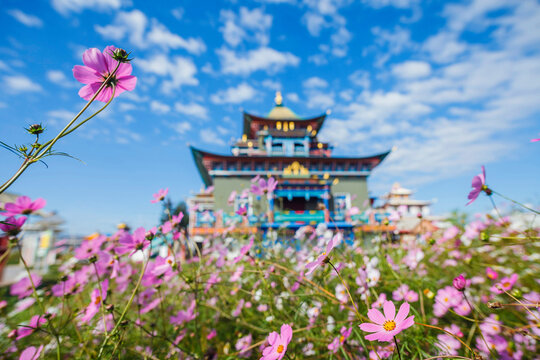 Ivolginsky datsan monastery is the Buddhist Temple located near Ulan-Ude city. Buryatia, Russia