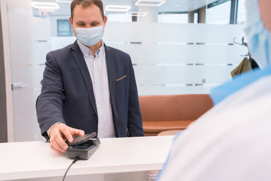 Patient Paying With Phone