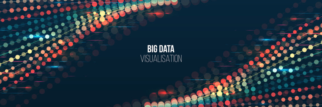 Big data visualization algorithms. Computer technology sorting data concept. Machine learning algorithm. Lines array visual concept.
