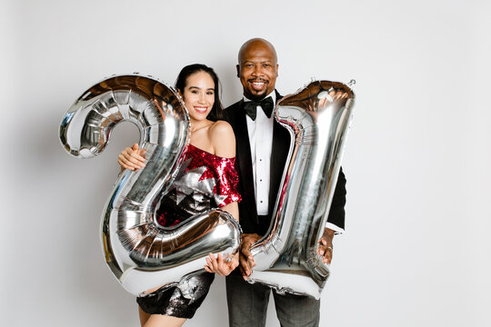 Couple Celebrates New Years 2021