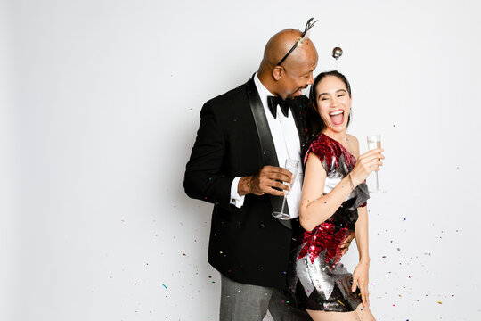 Interracial Couple Celebrates NYE