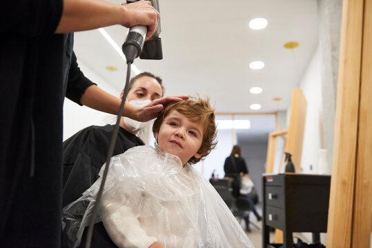 Kid haircut