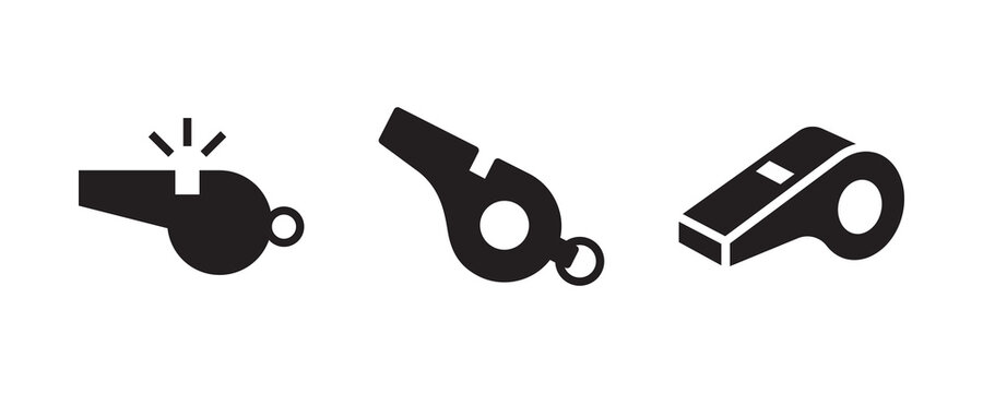 Whistle icon set. Vector graphic illustration. Suitable for website design, logo, app, template, and ui.