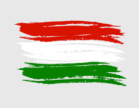 hungary europe country tricolor flag brush textured