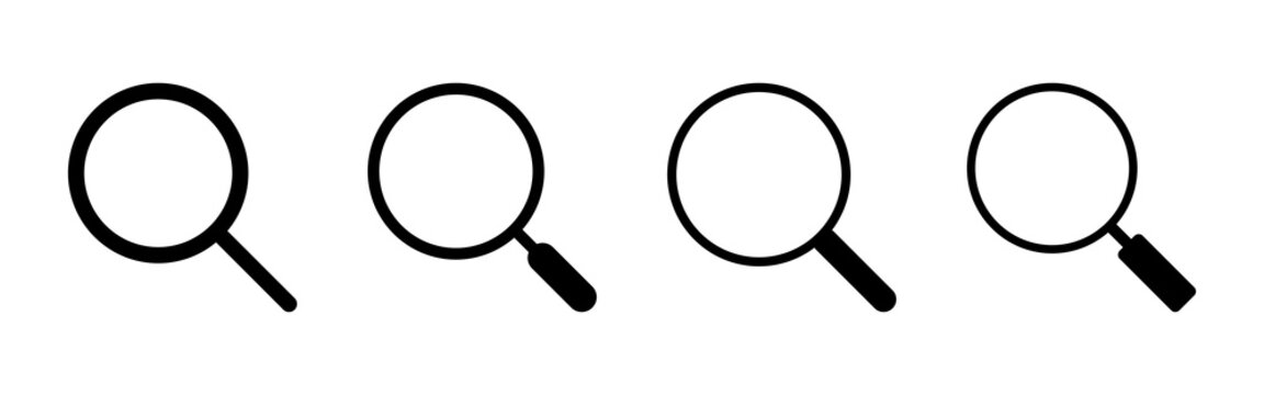 Search icon set. search magnifying glass icon