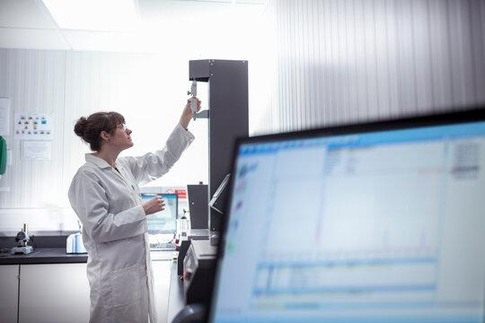 Print scientist working in print factory