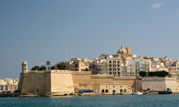 View of Senglea from The Grand Harbour. Malta