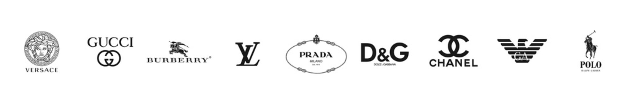 Popular fashion logo set vector