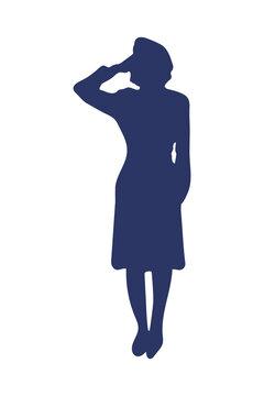 female officer silhouette