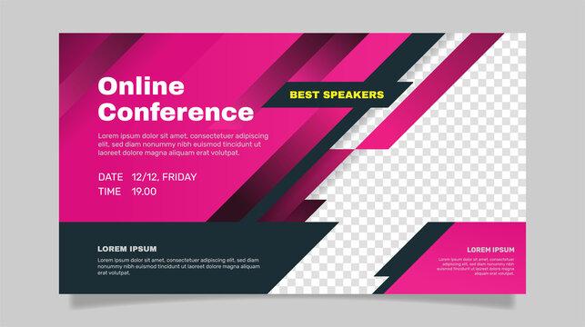 Webinar banner invitation template. - Vector.