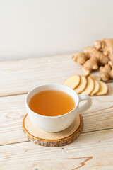 Wall Murals Juice fresh and hot ginger juice glass
