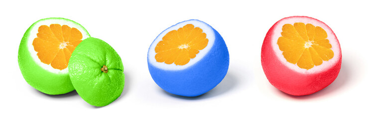 Obraz Set of weird looking orange fruit - fototapety do salonu