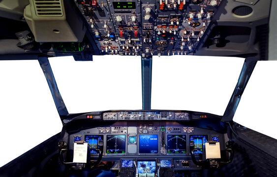 Pilot Flight Deck aircraft simulator hud