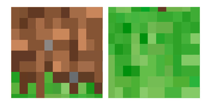 Pixel background. The concept of games background. Minecraft concept. Vector illustration.