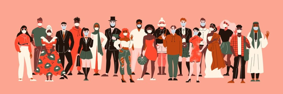 Nationalities In Masks Composition