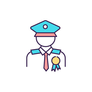 Veteran compensation and pension RGB color icon. Military retirement. Service-connected condition. Mental health issues. Occupational impairment. Paying for disability. Isolated vector illustration