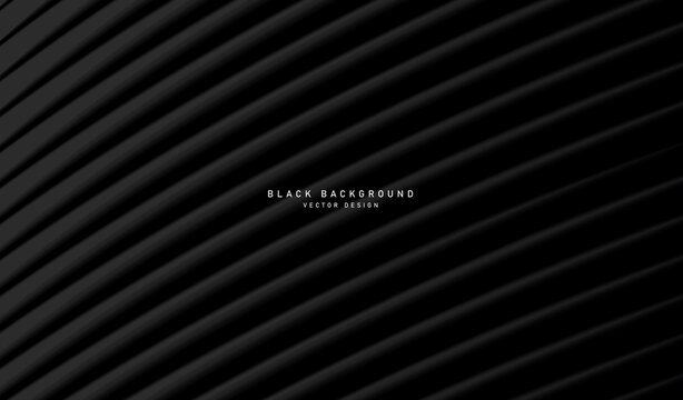 Black diagonal lines background, 3d shapes forming volume texture, masculine stylish background