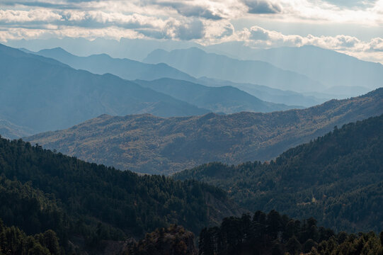 Mountain landscape on Mount Gramos in northern Greece