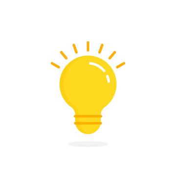 yellow lightbulb icon like quick tip