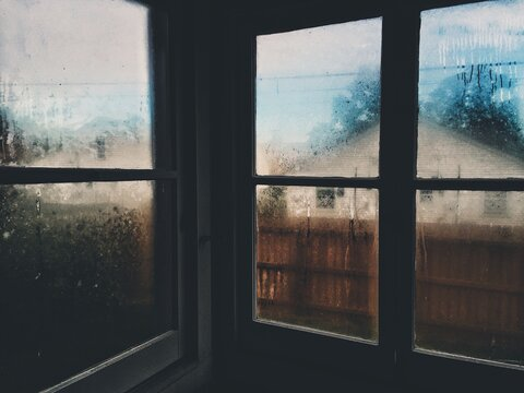 Frost Windows Of House