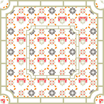 Fantastic flower ornament. Beautiful vector pattern. Design can be used for Scarf, Card, bandana print, kerchief design, napkin