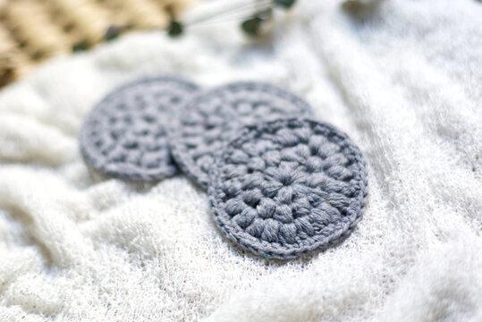 Disques démaquillants lavables au crochet