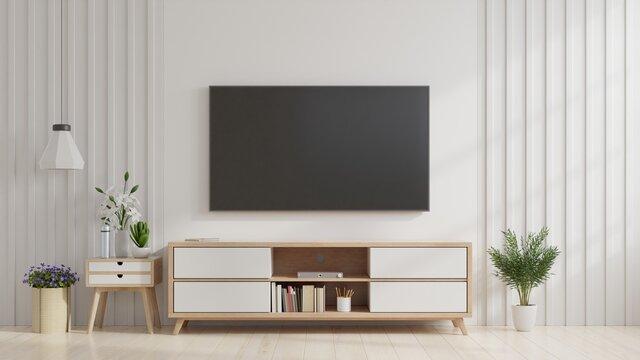 Television Set On Wall At Home