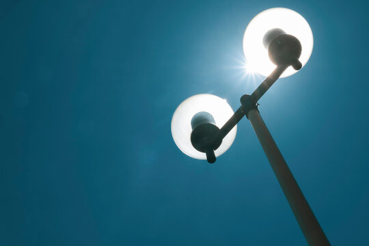 Street Lamp And Sun Light.