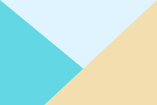 Abstract Pastel Three Colored Minimalism For Background