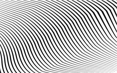 modern art curved lines patter. monochrome waves. geometric vector background.wallpaper concept for web and print