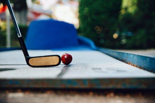 Close-up Of Minigolf Ball