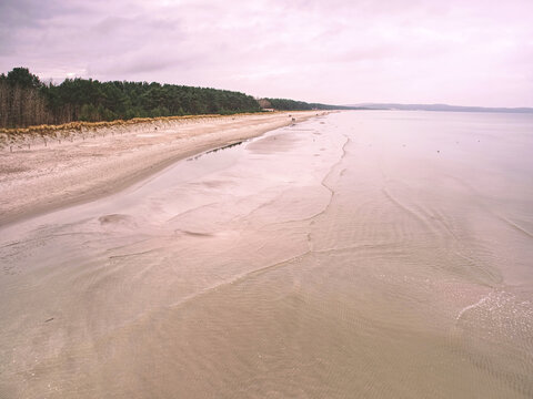 Baltic Sea With Smooth Level Within Absolut Windless.