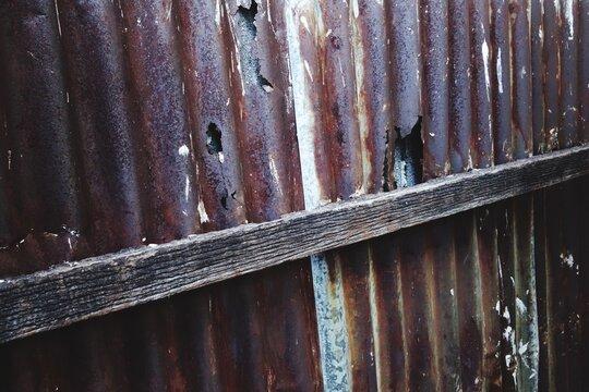 Full Frame Shot Of Rusty Metal Wall