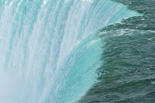 Full Frame Shot Of Waterfall Edge