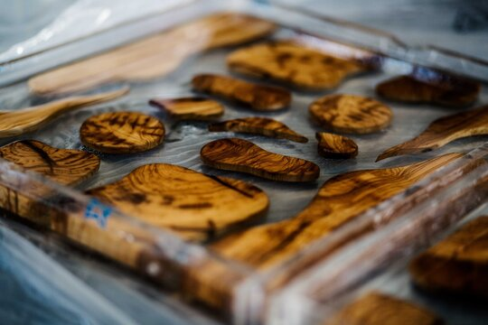 Olive Wood In Resin