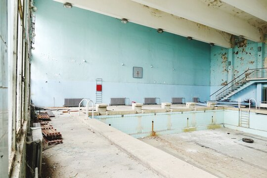 Abandoned Olympic Indoor Swimming Pool