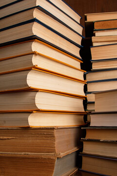 Close-up Of Stack Of Books