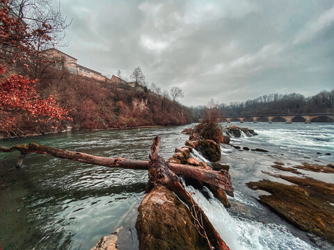 Luzern Waterfall In Switzerland