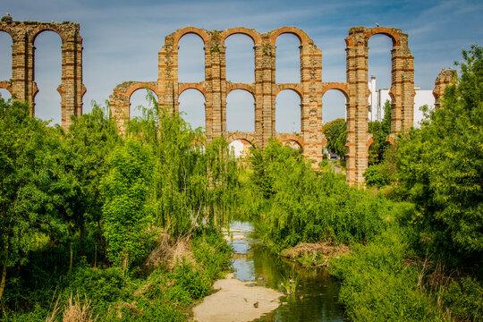 The Acueducto De Los Milagros Miraculous Aqueduct Is The Ruins Of A Roman Aqueduct Bridge