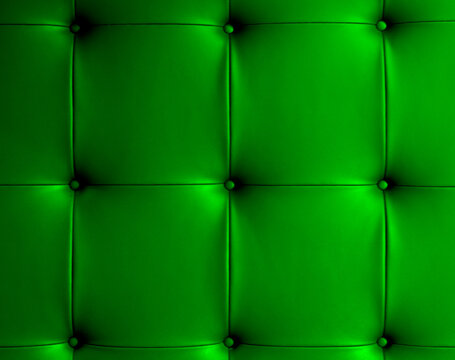 Full Frame Shot Of Green Sofa