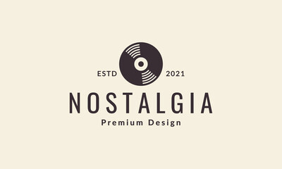 Obraz vinyl record simple hipster logo vector symbol icon design illustration - fototapety do salonu