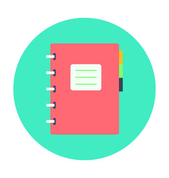 Diary Colored Vector Icon