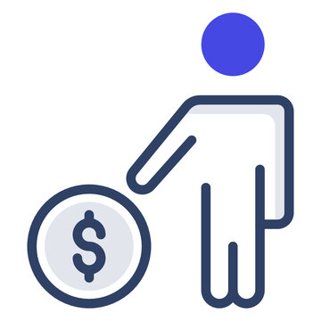 A flat design, icon of investor