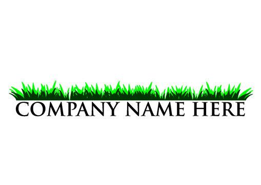 lawn mowing grass logo