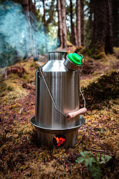 Kelly Kettle, deep in the forests. An eco friendly fire.