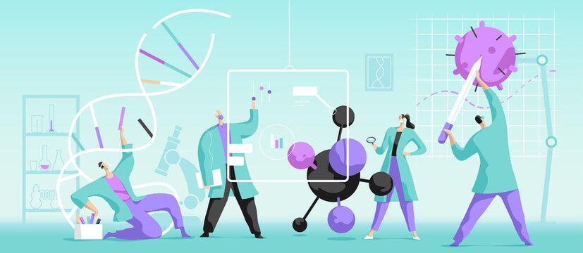 Giovani scienziati alla ricerca di nuove cure mediche genetiche