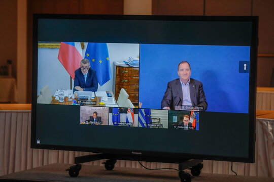 EU Council President meeting ahead of EU Summit, in Brussels