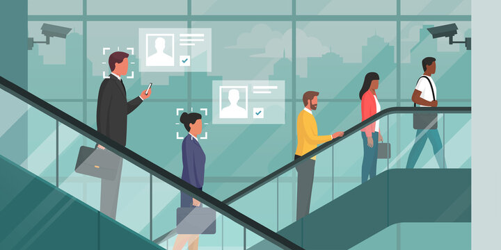 Facial recognition technology in a corporate building