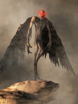 The Mothman is a cryptid who witnesses describe as being bird like with glowing red eyes. This legendary creature of folklore was reported in West Virginia in the late 60's near Point Pleasant, WV.
