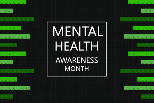 Mental Health Awareness Month. Poster, brochure, banner template. Celebrated annually in the USA .